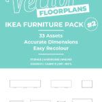 Vector Floorplan Assets – IKEA Furniture Pack #2