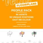 Vector Floorplan Assets – People Pack #1